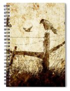 Crows And The Corner Fence Spiral Notebook