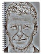 David Beckham In 2009 Spiral Notebook