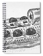 Decorative French Cuisine Spiral Notebook