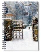 Decorative Iron Gate In Winter Spiral Notebook
