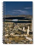 Delos Island Spiral Notebook