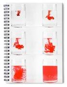 Dissolving Dye Spiral Notebook