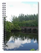 Dock On The North Fork River Spiral Notebook
