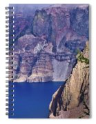 East Rim Of Crater Lake Spiral Notebook