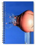 Egg Hit By A Bullet Spiral Notebook