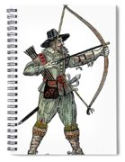 English Archer, 1634 Spiral Notebook