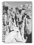Eroded Sandstone Cliffs Spiral Notebook
