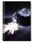 Faceted Quartz Gem Spiral Notebook
