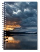 Fall Sunset Over Lake Pend Oreille Spiral Notebook