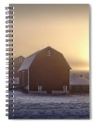 Farm Winter Sunrise Spiral Notebook