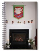 Fireplace At Christmas Spiral Notebook