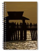 Fishing At Naples Pier Spiral Notebook
