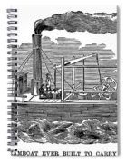 Fitchs Steamboat, C1790 Spiral Notebook