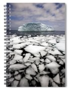Floating Ice Shattered From Iceberg Spiral Notebook