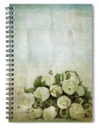 Floral Pattern On Old Paper Spiral Notebook