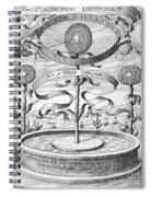 Flower Clock, 1643 Spiral Notebook
