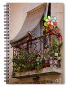 Flowery Balcony Spiral Notebook