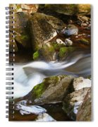 Flowing River Blurred Through Rocks Spiral Notebook