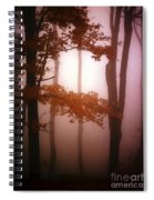 Foggy Misty Trees Spiral Notebook