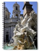 Fountain. Piazza Navona. Rome Spiral Notebook