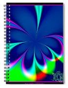 Fractal 24 Floral Fleur De Lis Spiral Notebook