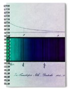 Fraunhofer Lines Spiral Notebook