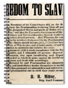 Freedom To Slaves Spiral Notebook