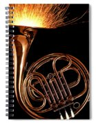 French Horn With Sparks Spiral Notebook