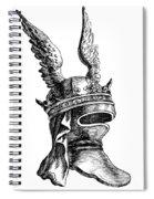 French Medieval Helmet Spiral Notebook
