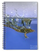 Frog Jumps Into Water Spiral Notebook
