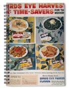 Frozen Food Ad, 1957 Spiral Notebook
