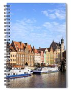 Gdansk Old Town In Poland Spiral Notebook