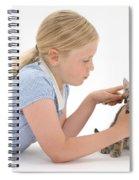 Girl Grooming Kitten Spiral Notebook