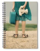 Girl In The Dunes Spiral Notebook