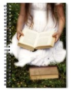 Girl Is Reading A Book Spiral Notebook