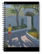 Girl Skipping Spiral Notebook