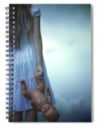 Girl With Baby Doll Spiral Notebook