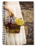 Girl With Flowers Spiral Notebook