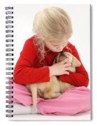 Girl With Puppy Spiral Notebook