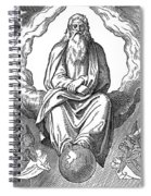 God Resting On 7th Day Spiral Notebook