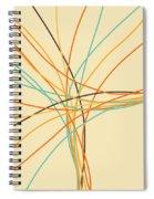 Graphic Line Pattern Spiral Notebook