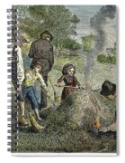 Grasshopper Plague, 1875 Spiral Notebook
