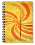 Grunge Ray On Old Postcard Spiral Notebook