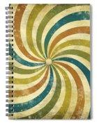 grunge Rays background Spiral Notebook