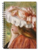 Head Of A Young Girl In A Red Hat  Spiral Notebook