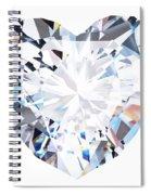 Heart Diamond  Spiral Notebook
