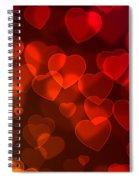 Hearts Background Spiral Notebook