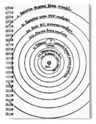 Heliocentric Universe, Copernicus, 1543 Spiral Notebook