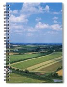 High Angle View Of Fields, Stradbally Spiral Notebook
