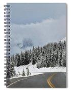 Highway 40 In Winter, Highwood Pass Spiral Notebook